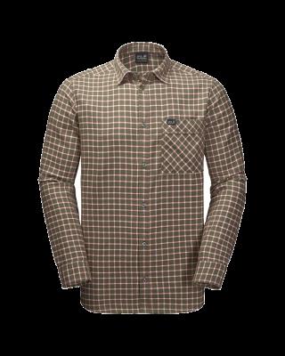 Jack Wolfskin Fraser Island Shirt - Woodland Green Checks