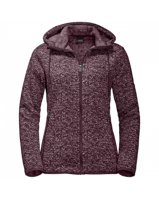 Jack Wolfskin Belleville Jacket - Burgundy All Over