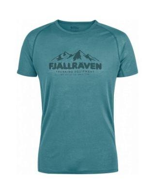 Fjallraven Abisko Trail T-shirt Print - Lagoon