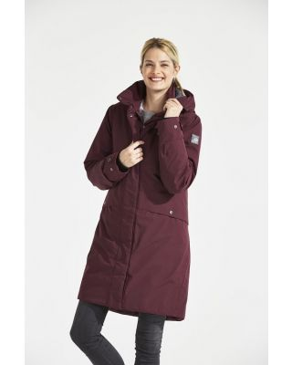 Didriksons Eline Womens Parka - Wine Red