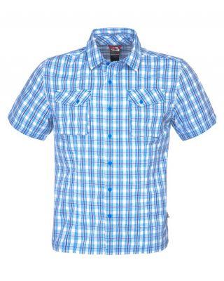 The North Face M S/S Mandraka Shirt - Drummer Blue Plaid