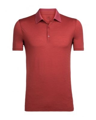 Icebreaker Tech T Lite SS Polo - Vintage Red