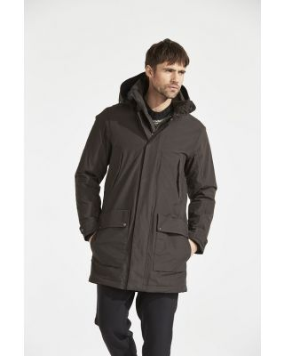 Didriksons Ture Mns Coat 2 - Chocolate Brown