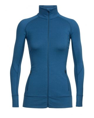 Icebreaker Wmns Fluid Zone LS Zip - Prussian Blue/Midnight Navy